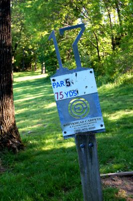 Browns Point/Buzzy's Creek, Main course, Hole 17 Hole sign