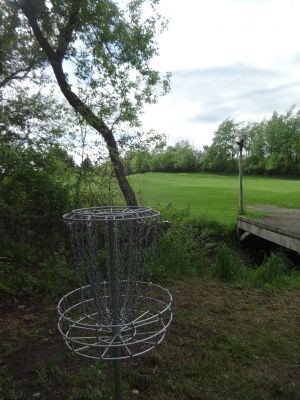 Pine Hills DGC, North course, Hole 10 Reverse (back up the fairway)