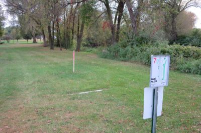 Sauk River Park, Mainc ourse, Hole 7 Tee pad