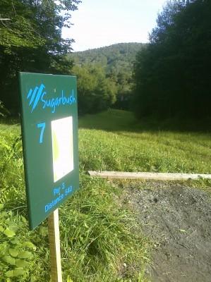 Sugarbush, Base course, Hole 7 Long tee pad