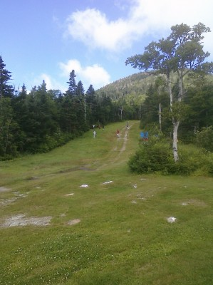 Sugarbush, Peak Course, Hole 1 Tee pad