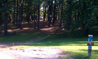 Town Park (Amesbury Pines), Main course, Hole 1 Long tee pad