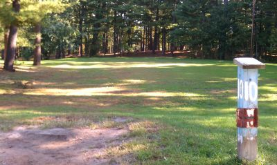 Town Park (Amesbury Pines), Main course, Hole 10 Long tee pad