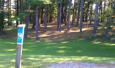 Town Park (Amesbury Pines), Main course, Hole 14 Long tee pad