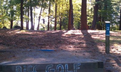 Town Park (Amesbury Pines), Main course, Hole 2 Long tee pad