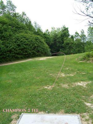 Spinski's, Champion course, Hole 2 Tee pad