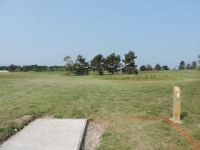 Atchison Park, The Lyon's Den, Hole 8 Tee pad