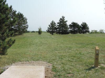 Atchison Park, The Lyon's Den, Hole 17 Tee pad