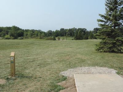 Atchison Park, The Lyon's Den, Hole 12 Tee pad