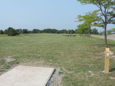 Atchison Park, The Lyon's Den, Hole 11 Tee pad