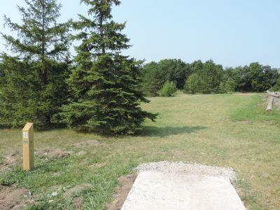 Atchison Park, The Lyon's Den, Hole 13 Tee pad