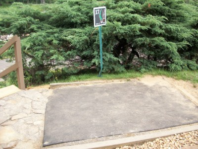 Barre Falls, Main course, Hole 17 Tee pad