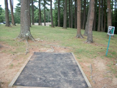 Barre Falls, Main course, Hole 18 Tee pad