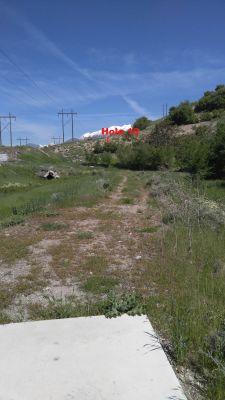 Slate Canyon Park, Main course, Hole 16 Tee pad