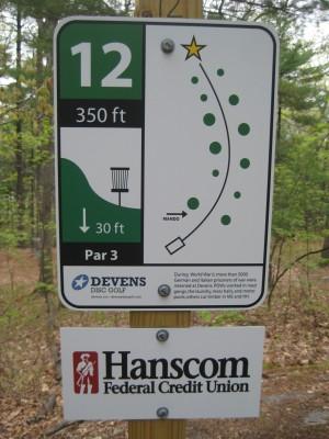 Devens DGC, The Hill, Hole 12 Hole sign