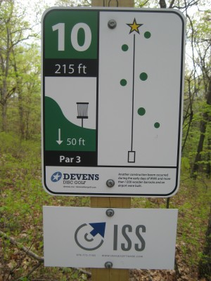 Devens DGC, The Hill, Hole 10 Hole sign