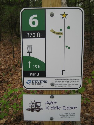 Devens DGC, The Hill, Hole 6 Hole sign