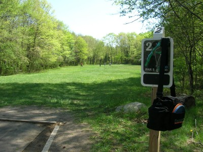 Borderland State Park, Main course, Hole 2 Short tee pad