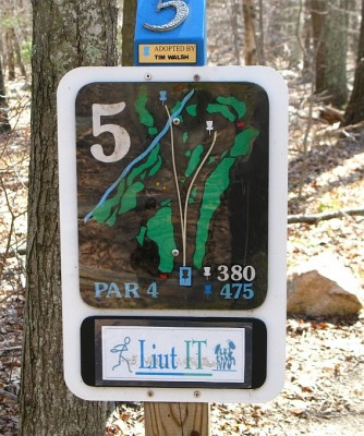 Borderland State Park, Main course, Hole 5 Hole sign