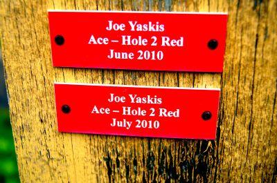 Maple Hill, Whites, Hole 2 Hole sign