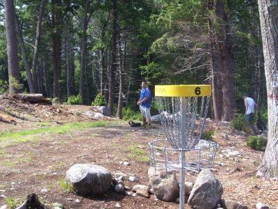 Tully Lake, Main course, Hole 6 Reverse (back up the fairway)