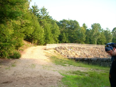 Tully Lake, Main course, Hole 9 Tee pad