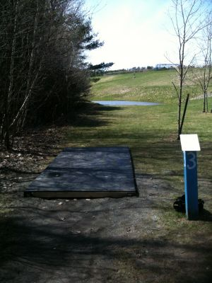 Pye Brook Park, Main course, Hole 3 Tee pad