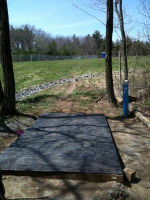 Pye Brook Park, Main course, Hole 7 Tee pad