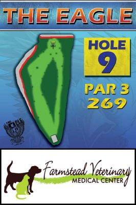 The Eagle, Main course, Hole 9 Hole sign