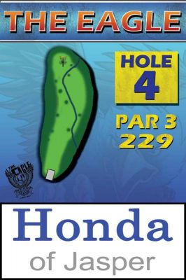 The Eagle, Main course, Hole 4 Hole sign
