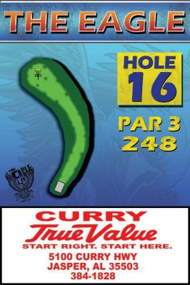 The Eagle, Main course, Hole 16 Hole sign