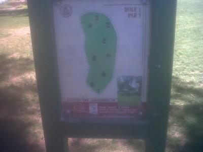 Roosevelt Park, Main course, Hole 1 Hole sign