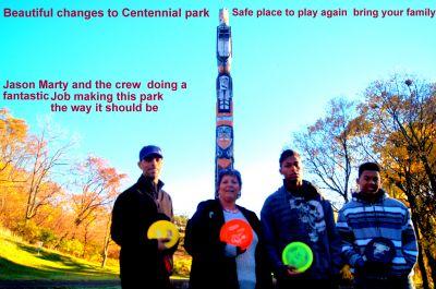 Centennial Gardens, Main course, Hole 7 Hole sign