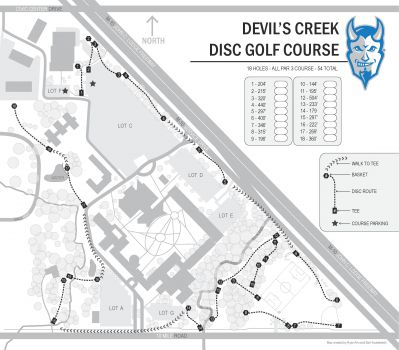 Lawrence Tech, Devils Creek, Hole 1 Hole sign