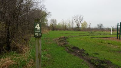 Woolley Park, Main course, Hole 4 Hole sign