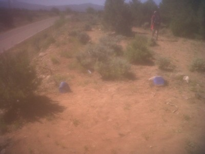 Picuris Pueblo DGC, Main course, Hole 8 Long tee pad