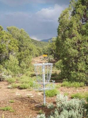 Picuris Pueblo DGC, Main course, Hole 16 Reverse (back up the fairway)