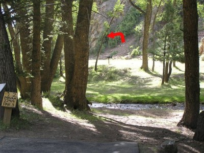 Mallette Park, Main course, Hole 2 Tee pad