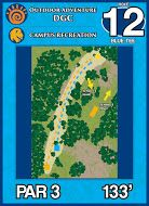 Outdoor Adventure DGC, Main course, Hole 12 Short tee pad