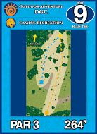 Outdoor Adventure DGC, Main course, Hole 9 Short tee pad