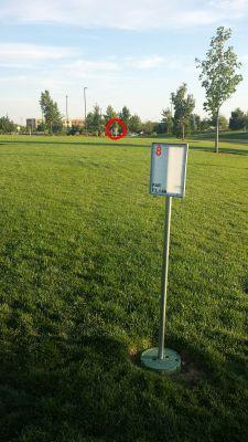 Kleiner Park, Main course, Hole 8 Hole sign