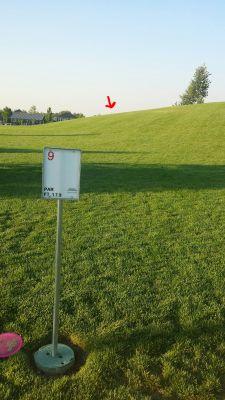Kleiner Park, Main course, Hole 9 Hole sign