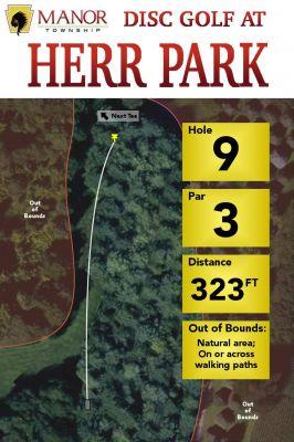 Herr Park, Main course, Hole 9 Hole sign