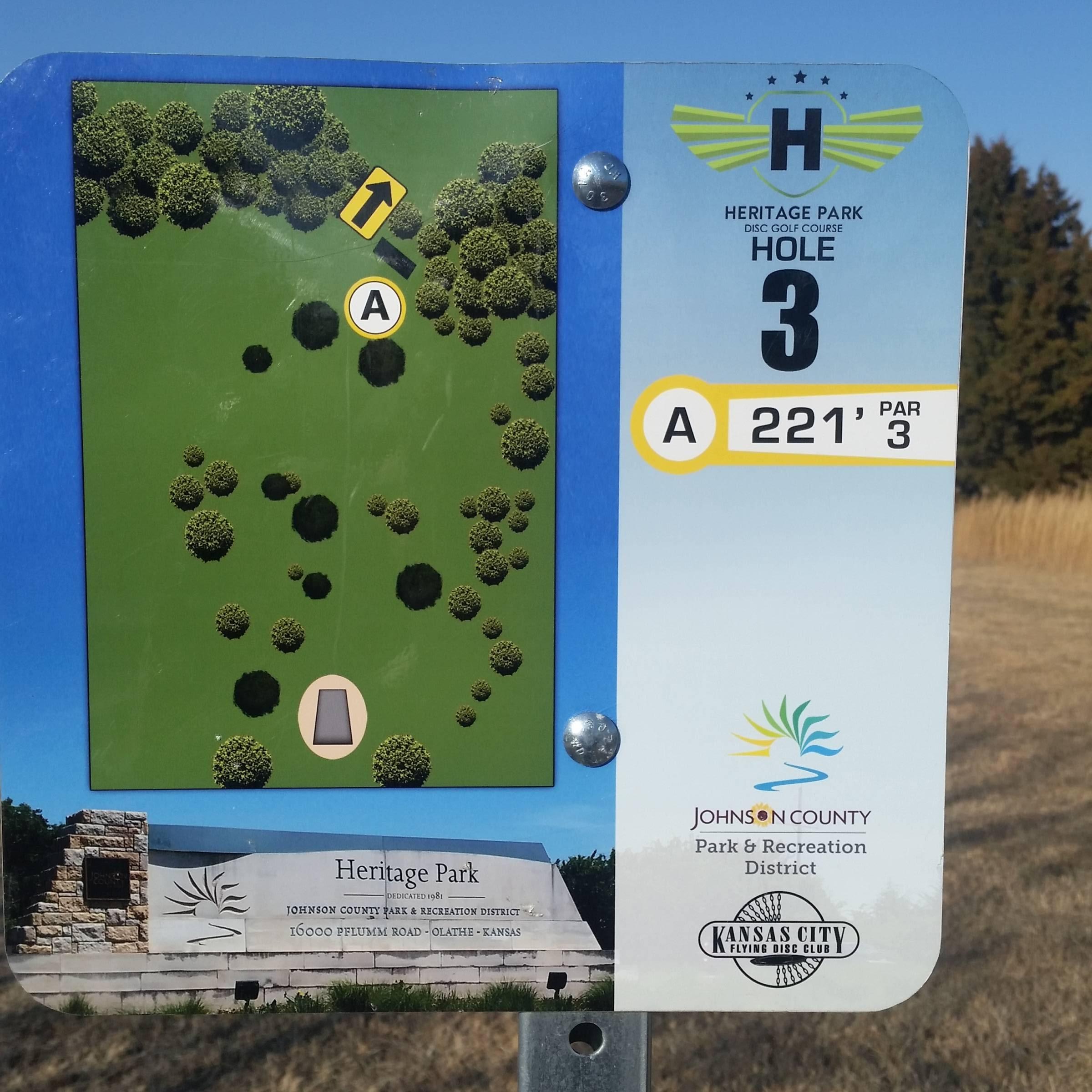 Hole 3 • Heritage Park (Olathe, KS) | Disc Golf Courses | Disc Golf