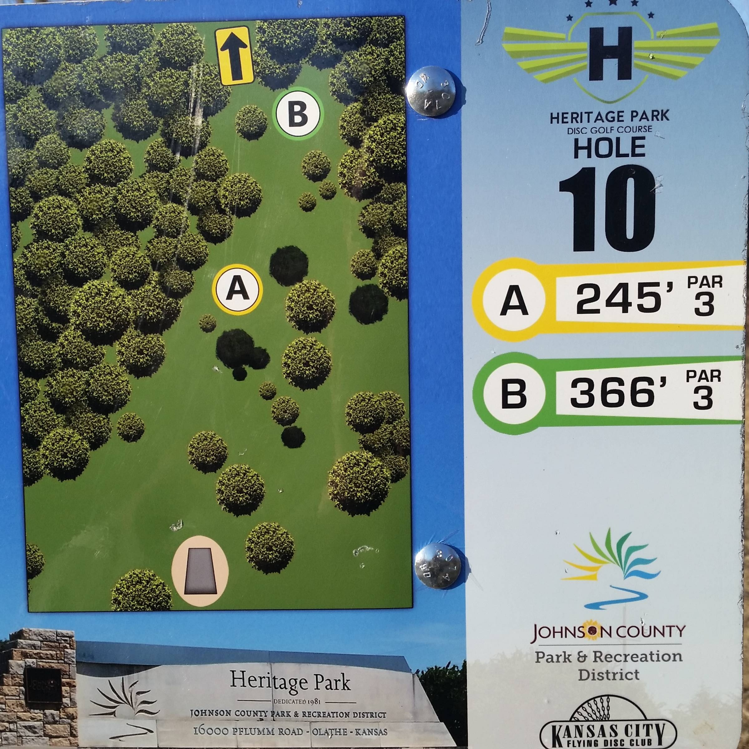 Hole 10 • Heritage Park (Olathe, KS) | Disc Golf Courses | Disc Golf