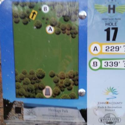Heritage Park, Main course, Hole 17 Tee pad
