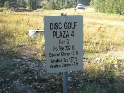 Snowbasin, Main course, Hole 4 Hole sign