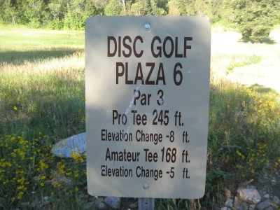 Snowbasin, Main course, Hole 6 Hole sign