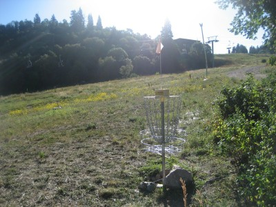 Snowbasin, Main course, Hole 4 Reverse (back up the fairway)