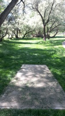 Dry Creek Trail Park, Main course, Hole 1 Tee pad